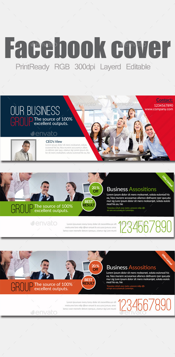 GraphicRiver Multi Use Business Facebook Cover 9513731