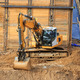 Excavator on the construction site - PhotoDune Item for Sale