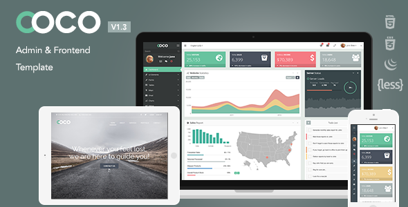 Coco - Responsive Bootstrap Admin and Frontend Template Download