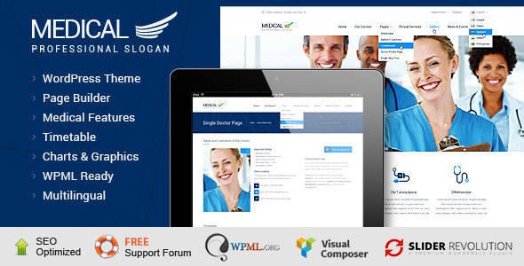 ThemeForest Medical Health WordPress Theme 8948252