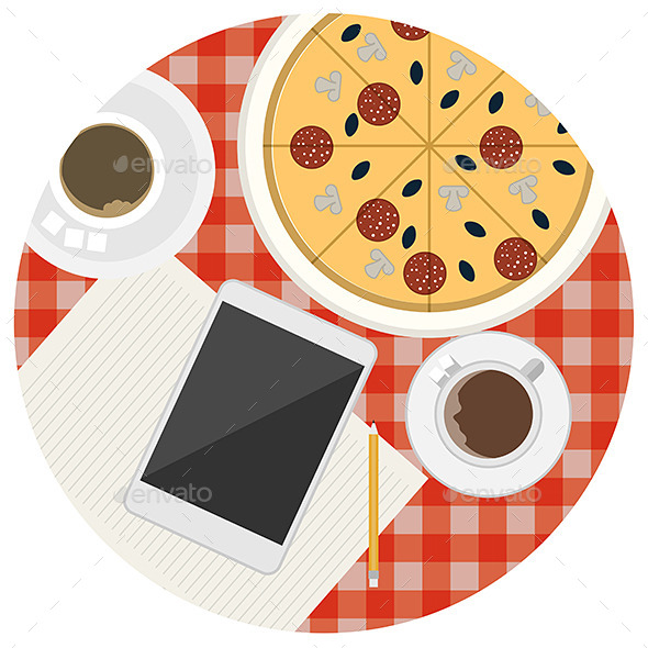 GraphicRiver Lunch Table 9513914