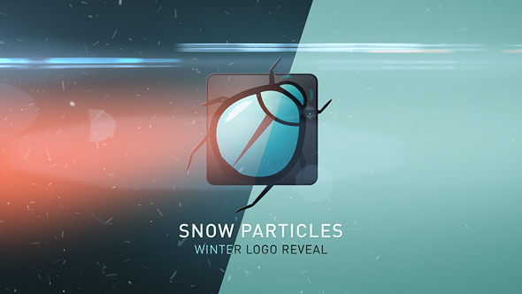Winter Snow Particles Logo Reveal