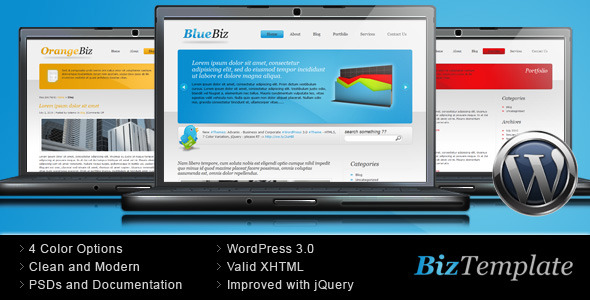 ThemeForest Biz Template Business Wordpress Theme 68188