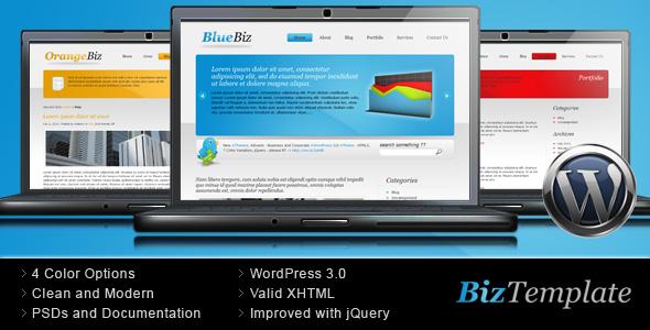 Biz Template - Business Wordpress Theme