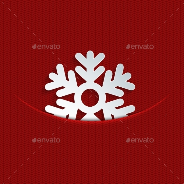 GraphicRiver Snowflake on Knitting 9514094
