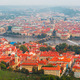 Aerial view over the Vltava River in Prague, Czech Republic - PhotoDune Item for Sale