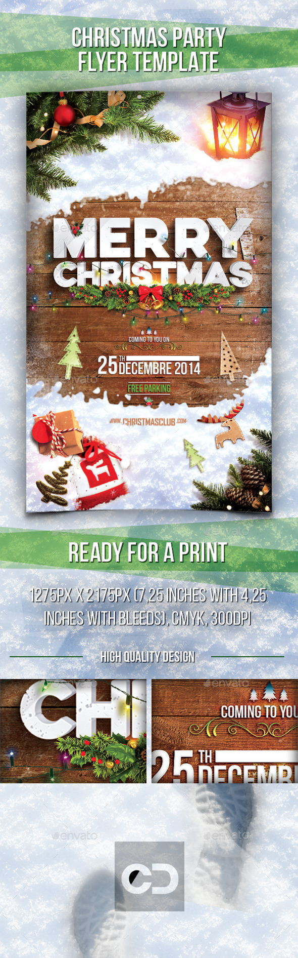 GraphicRiver Christmas Party Flyer 9514266