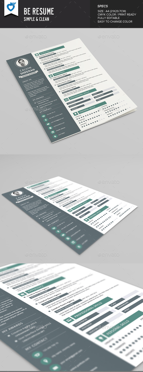 GraphicRiver Be Resume 9514334