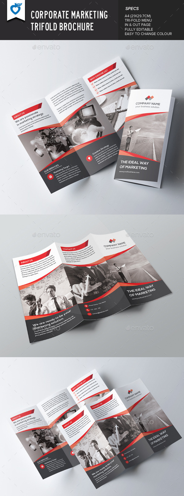 GraphicRiver Corporate Marketing Trifold Brochure 9514338