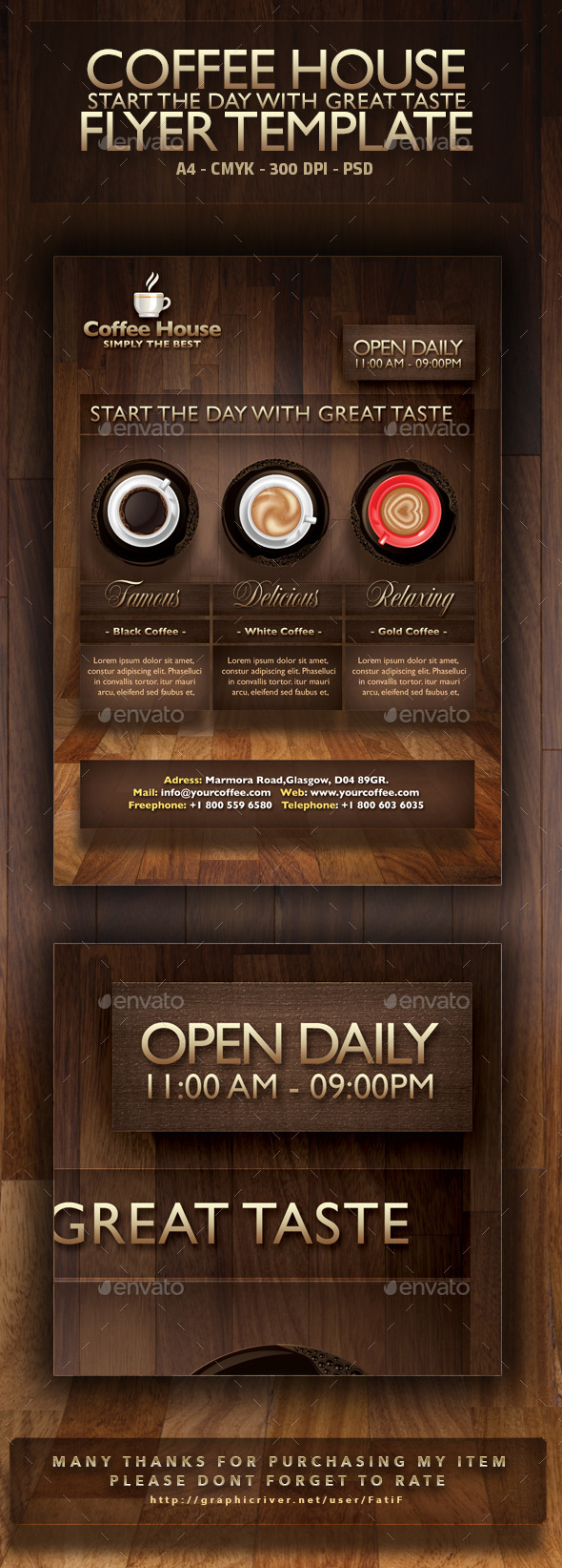 GraphicRiver Coffee House Flyer Template 9514355