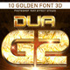10 Golden Font 3D_2 - GraphicRiver Item for Sale