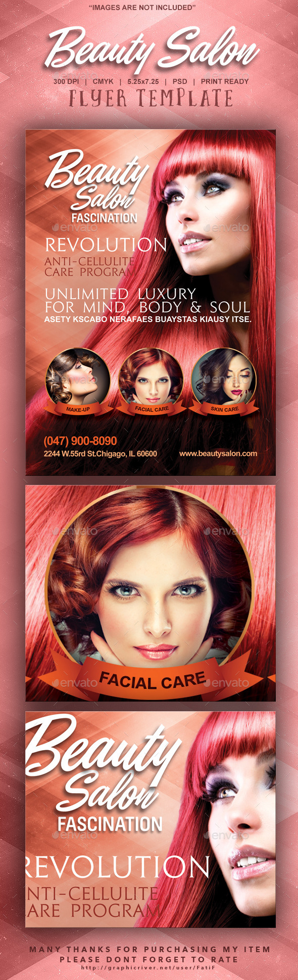 GraphicRiver Beauty Salon Flyer Template 9339005