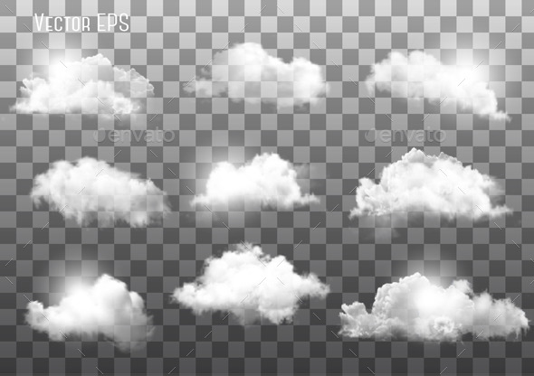 GraphicRiver Clouds on Transparent Background 9514411