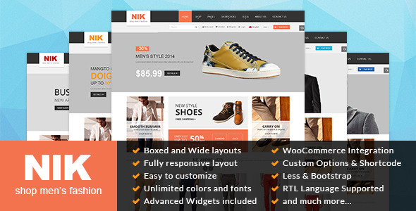 ThemeForest Nik Responsive WordPress Theme for Fashion Store 9514470