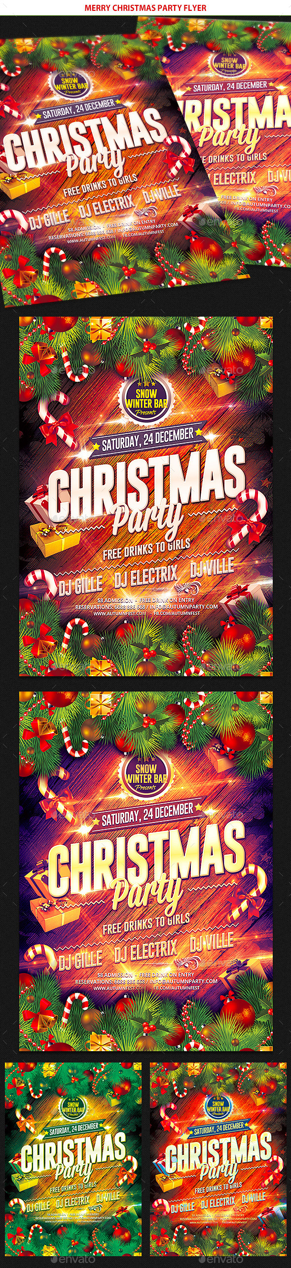 GraphicRiver Merry Christmas party Flyer 9514482