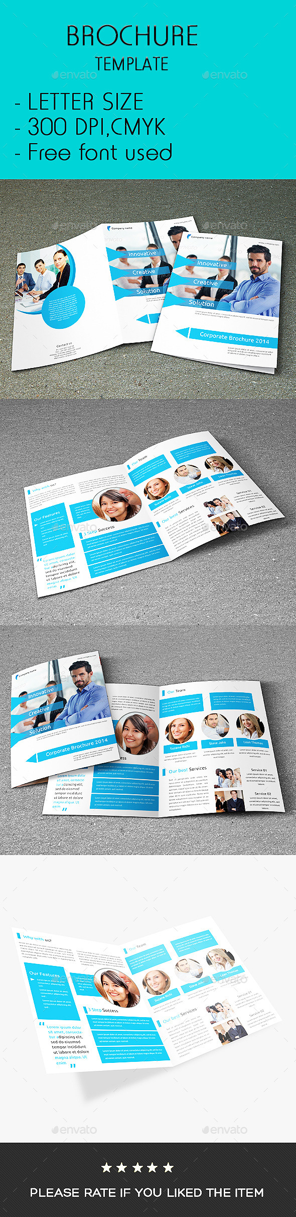 GraphicRiver Corporate Bi-fold Business Brochure 9514628