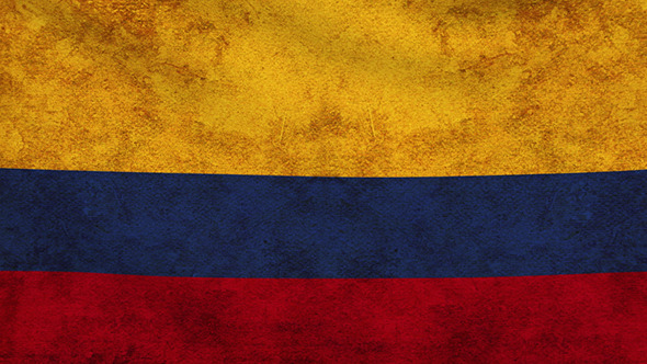 Colombia Flag 2 Pack Grunge and Retro