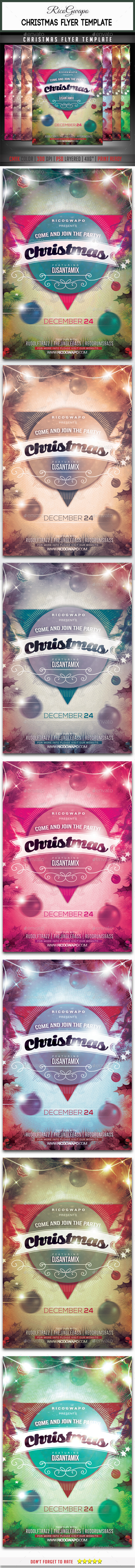 GraphicRiver Christmas Flyer Template 9515301