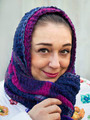 Portrait of the woman close up with a scarf on her head - PhotoDune Item for Sale