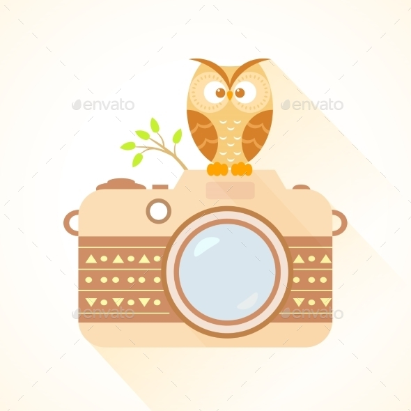 GraphicRiver Camera and Owl 9515358