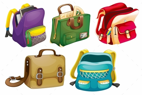 GraphicRiver School Bags 9515418