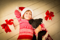 Child and dog in Christmas - PhotoDune Item for Sale
