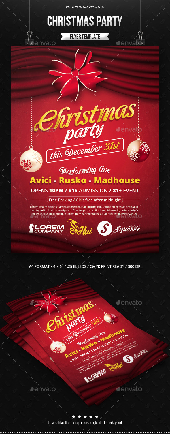 GraphicRiver Christmas Party Flyer 9515764
