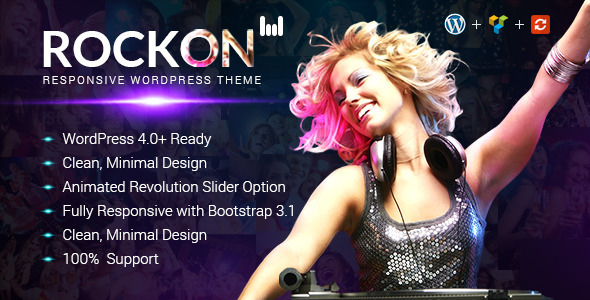 ThemeForest Rockon Responsive WordPress Theme 9467649