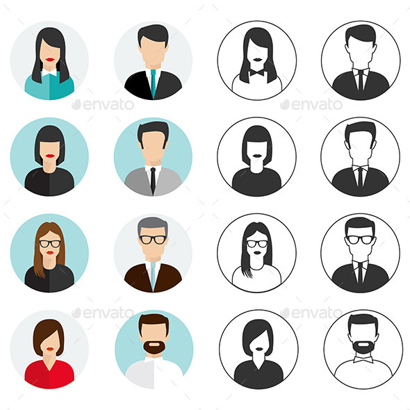 GraphicRiver People Icons Set 9515936