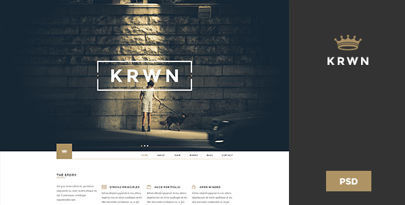 ThemeForest Krown Creative PSD Theme 9488854