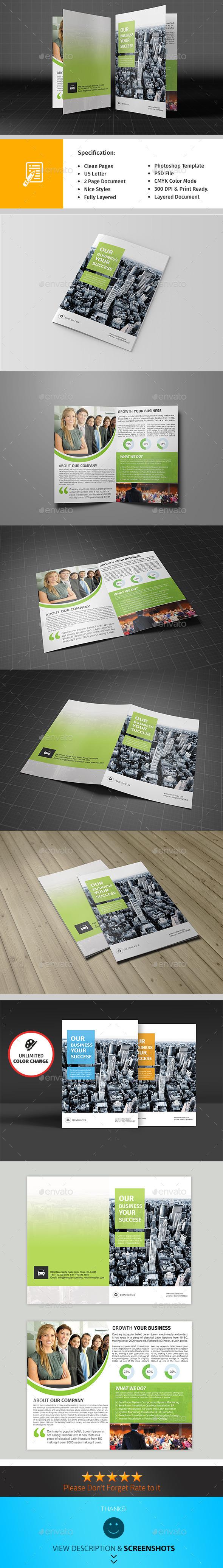 GraphicRiver Bifold Corporate Brochure Template Vol01 9516004