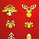 Christmas Golden Decorative Elements Set  - GraphicRiver Item for Sale