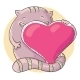Cat Holding a Big Heart - GraphicRiver Item for Sale