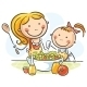 Mother and Daughter Cooking - GraphicRiver Item for Sale