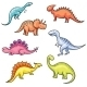 Cartoon Colorful Dinosaurs - GraphicRiver Item for Sale