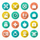 Set Flat Icons of Quadrocopter, Multicopter, Drone - GraphicRiver Item for Sale