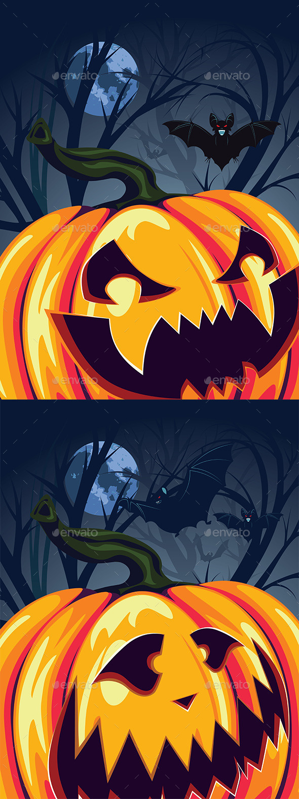 GraphicRiver Halloween Pumpkin in the Forest 9516585