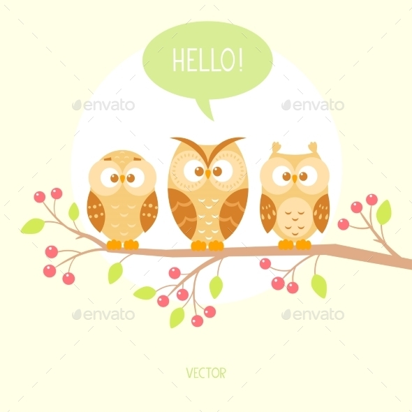 GraphicRiver Three Owls 9516592