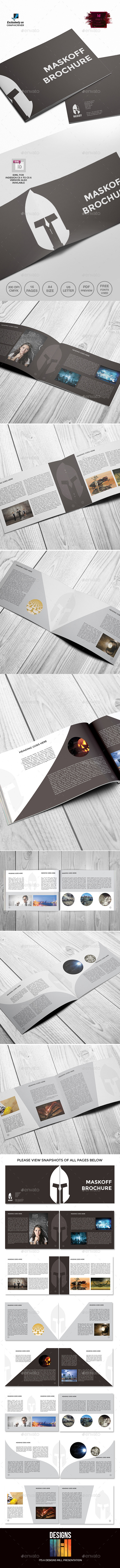 GraphicRiver Maskoff Landscape Brochure Template 9516649