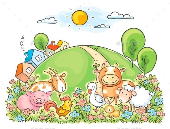 GraphicRiver Farm Animals 9516648