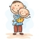 Father holding his Baby-Son - GraphicRiver Item for Sale