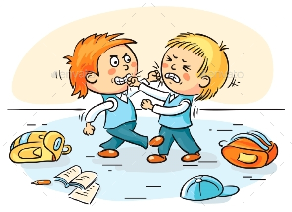 GraphicRiver Two Schoolboys are Fighting 9516652