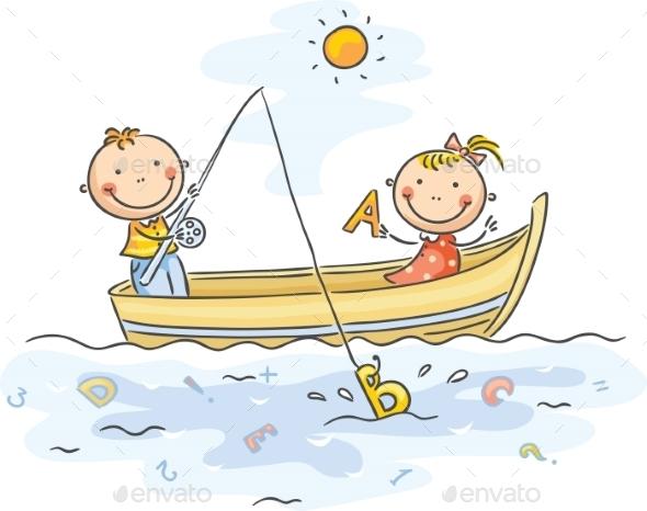 GraphicRiver Kids Fishing 9516672