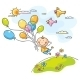 Flying with the Balloons - GraphicRiver Item for Sale