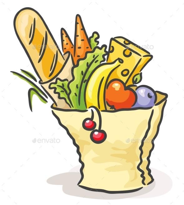 Bag with Food