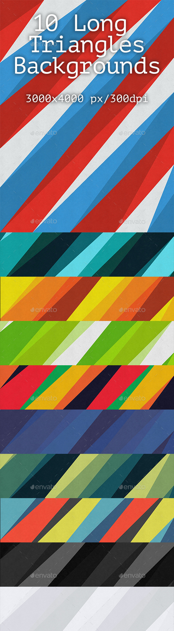 10 Long Triangles Backgrounds