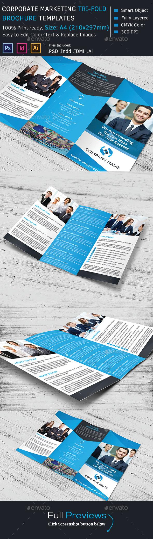 GraphicRiver Corporate Marketing Tri-Fold Brochure 9516783