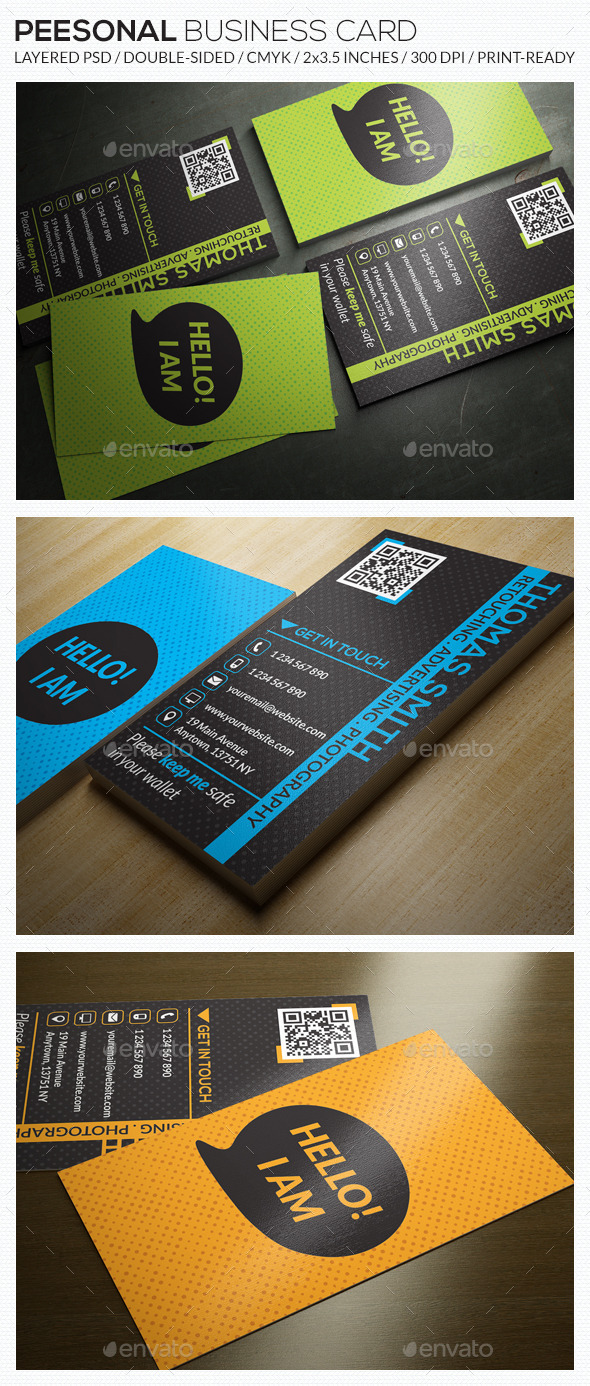 GraphicRiver Personal Business Card RA68 9516871