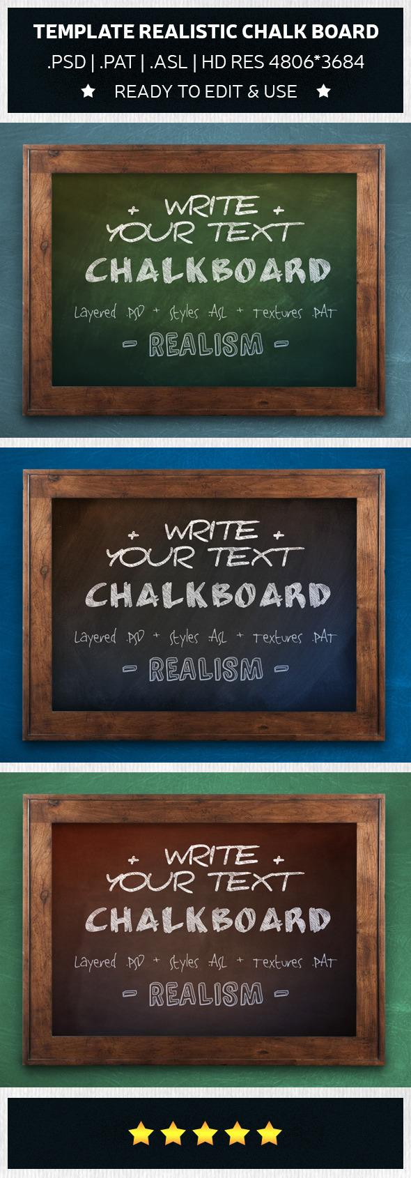 GraphicRiver Chalkboard Realistic Template 9517026