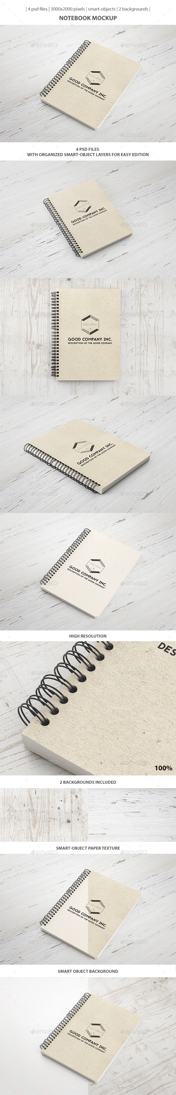 GraphicRiver Notebook Mockup 9517249